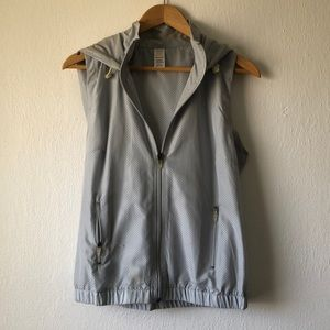 Maurices in motion silver workout hooded vest
